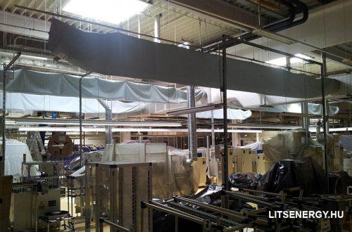 A textil légcsatorna ideiglenes használata